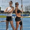 Tribune-Star/Joseph C. Garza<br /> Locally grown: Erica Moore of Sullivan and Kylie Hutson of Terre Haute have made an impression on the track and in the field (and in the record books) as Indiana State track and field athletes.
