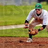 Patience: Viking thirdbaseman Cameron Fagg waits on a ground ball from an Eagle batter.