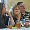 Smitten: Wabash Idol judges Julie Suggs, Julie Henricks and Adam Michaels listen to Dan Mrazik sing.