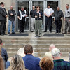 Day of Prayer: Several area ministers spoke to about 100 people attending the National Day of Prayer event at Terre Haute City Hall Thursday afternoon.