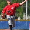 Heat: Terre Haute South sophomore pitcher A.J. Reed pitches against the Patriots Thursday night.