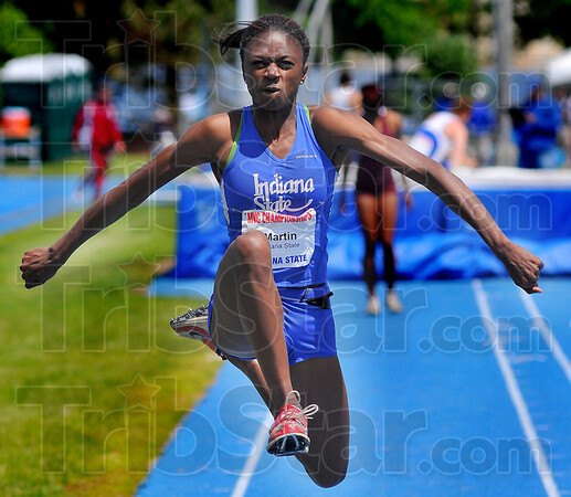 Winner: Lauren Martin won the women's triple jump.
