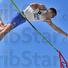 Still at it: Anthony Bertoli competed in the pole vault Sunday as well as the 400 meter hurdles.