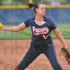 Tribune-Star file photo/Jim Avelis<br /> Bringing the heat to the sectional: Terre Haute North pitcher Brittney Isom delivers a pitch during the Patriots' game against the South Braves May 5 at North.