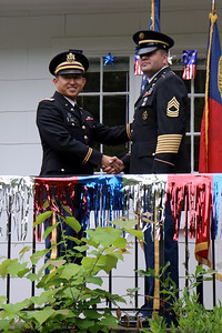 ROTC Commissioning Ceremony after May Graduation, May 11, 2009.