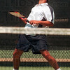 Tribune-Star file photo/Joseph C. Garza<br /> Net loss: Indiana State's Nathan Crick reacts after he hit the ball into the net during his and teammate Greg Tranquada's No. 2 doubles match of the NCAA Men's Regional Tennis Tournament Sunday, May 14, 2000 at the Indiana State Tennis Complex. Indiana State has indefinitely suspended the men's and women's tennis programs.
