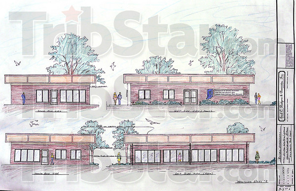 Like this: Earl C. Rodgers and Associates have drawn up schematics for the visitor's center at the wetlands east of West Terre Haute.