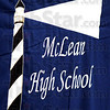 Banner year: McLean logo on hanging banner at the 2009 graduation ceremonies.