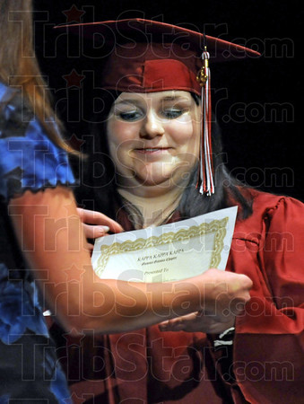 Kappa Kappa Kappa: Krysta Dannell Williams is presented the Tri Kappa Award during graduation ceremonies for the 2009 class of Washington High School.