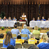 Battle of the Books: Teams from Deming and Hoosier Prairie battle it out at Fayette Elementary School Friday morning during the Battle of the Books.