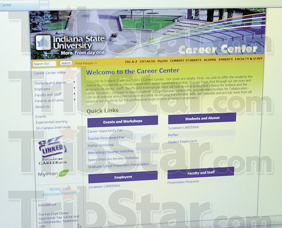 Online: Detail photo of ISU Career Center website.