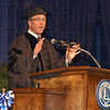 Grad: Roger Schmelzer, ISU class of 1979 and 1981 gave the Commencement address Saturday afternoon at the graduation ceremony in Hulman Center.