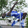 """Tops: Major Clay won the men's high jump with a leap of 7'2""""."""