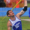 Spear chucker: Anthony Bertoli competes in the javelin portion of the decathalon Saturday in the Missouri Valley Conference track championships.