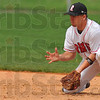 Good hands: RHIT secondbaseman Andrew Pinkstaff waits on a ground ball.