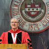 Tribune-Star/Joseph C. Garza<br /> The last commencement: Rose-Hulman Institute of Technology Gerald Jakubowski addresses the Class of 2009 during the school's commencement Saturday.