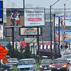 Sight for sore eyes: Billboards crowd eachother along south Third street between Voorhees and Margaret.