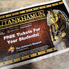 Detail photo: Tutankhamun tickets available free for students.