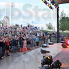 Tribune-Star file photo/Jim Avelis<br /> Hey, hey!: Singing a mixture of old Monkees' hits and Broadway show tunes, Davy Jones entertained a Terre Haute crowd Saturday, May 24, 2008 at Fairbanks Park.