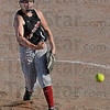Muscle ball: South's Marissa Stout fires a pitch to the plate during the final inning of Wednesday's game against Riverton Parke. South won the game 5-1.