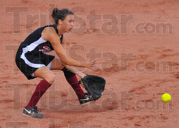 Watch it: Northview shortstop Emily Phillips??? prepares to glove a ground ball in early action against Mooresville.