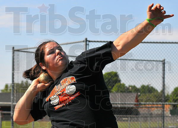 Second seed: Le Ann Spesard is seeded second in the shot put for the Illinois State finals.