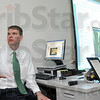 Tribune-Star/Joseph C. Garza<br /> Educational evolution: Marc Konesco, vice president of Marketing & Enrollment of Harrison College, discusses the college's marketing strategy and why it changed its name from Indiana Business College to Harrison College Monday at the school's Terre Haute location.