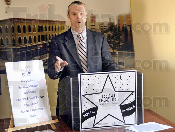 Announcement: Neil Garrison announces the Local Legends recognition program during a news conference Tuesday morning.