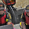 Searching: Indiana Conservation Officers Lt. Kent Hutchins  and Deland Szczepanski  watch their sonar as they search the bottom of the Wabash River near the US 40 bridges. The are looking for signs Gerald Smith, the ISU student missing since Friday of last week.