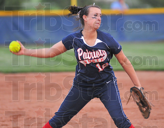 Bringing it: Terre Haute North pitcher Brittney Isom delivers a pitch.