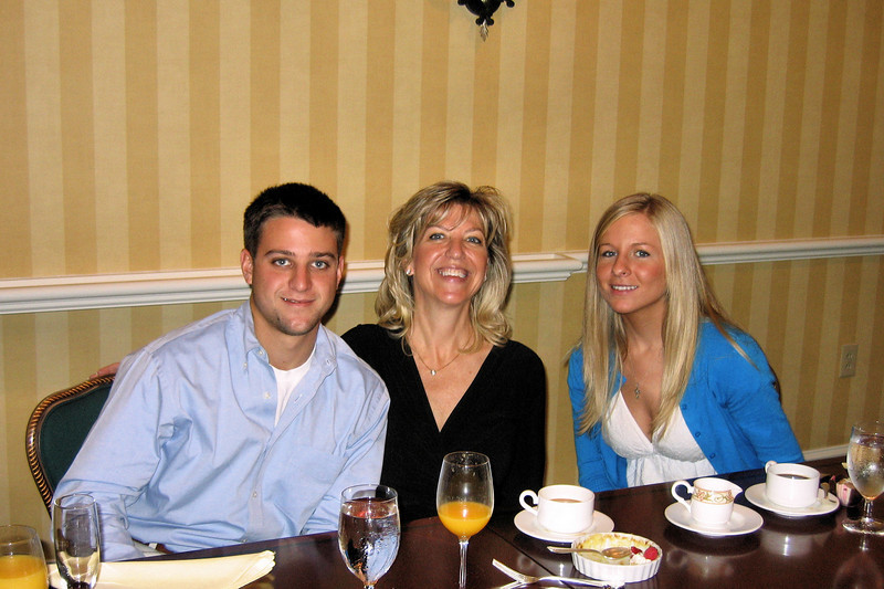 Nick, Laura, and Katie at Mothers Day Brunch