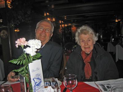 Mary Bardawill, Franny, Clare, Ben at Captain John's Ship Restaurant in Toronto