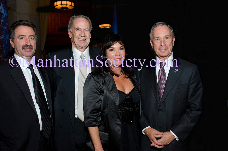 """NEW YORK-OCTOBER 29: VIP Guest, George McDonald, Harriet McDonald, Mayor Mike Bloomberg attend  THE DOE FUND's """"What New York Needs"""" Annual Fundraising Gala Celebrating Harriet & George McDonald's 25 Years of Service on Thursday, October 29, 2009 at Cipriani 42nd Street, 110 East 42nd Street, New York City, NY. (Photo Credit: ©Manhattan Society.com 2009 by Christopher London)"""