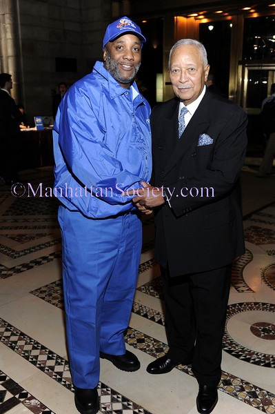 """NEW YORK-OCTOBER 29:Former New York City Mayor David N. Dinkins with one of """"the men in blue"""" at THE DOE FUND's """"What New York Needs"""" Annual Fundraising Gala Celebrating Harriet & George McDonald's 25 Years of Service on Thursday, October 29, 2009 at Cipriani 42nd Street, 110 East 42nd Street, New York City, NY. (Photo Credit: ©Manhattan Society.com 2009 by Christopher London)"""