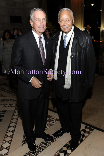 """NEW YORK-OCTOBER 29: New York City Mayor Michael R. Bloomberg, former New York City Mayor David N. Dinkins attend THE DOE FUND's """"What New York Needs"""" Annual Fundraising Gala Celebrating Harriet & George McDonald's 25 Years of Service on Thursday, October 29, 2009 at Cipriani 42nd Street, 110 East 42nd Street, New York City, NY. (Photo Credit: ©Manhattan Society.com 2009 by Christopher London)"""