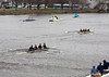 Girls second varsity racing, a couple lengths behind the BB&N boat