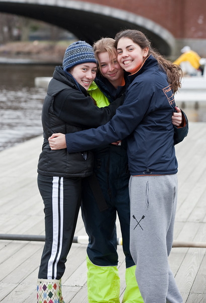 Isabel, Sophia, and Natalia on the dock