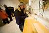 Susanne packing samples with a smile.<br /> <br /> Susanne pakker prøver med et smil.<br /> Photo: Ed Stockhard