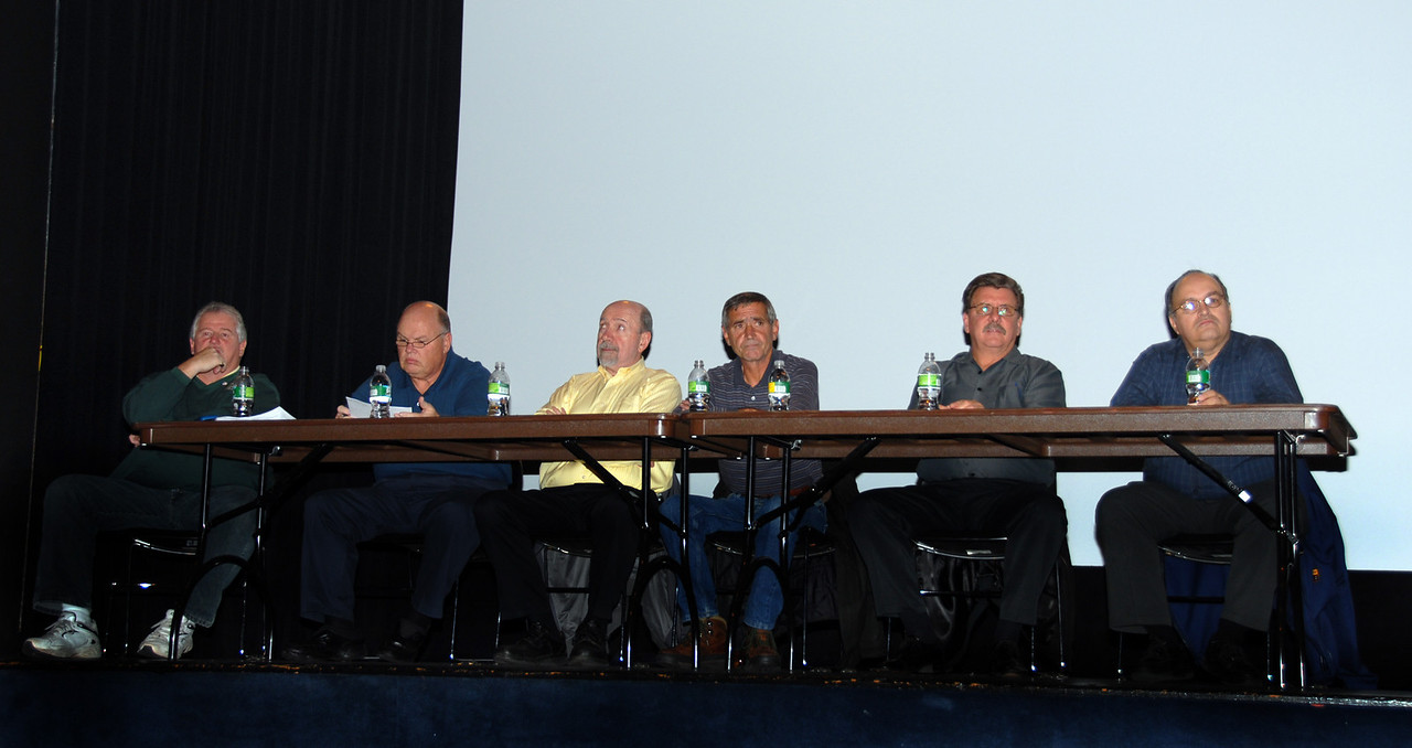 Left to right, Business Agent Marty Shannon, Chief Steward Bill Gross, Business Agent Pat Gibbons, Business Agent Bob Pyzeski, Business Agent Joe Manley, Exec. V.P. Angel Feliciano.