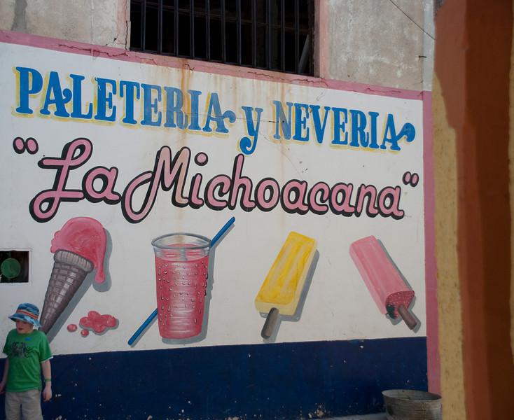 BIG ice cream sign...