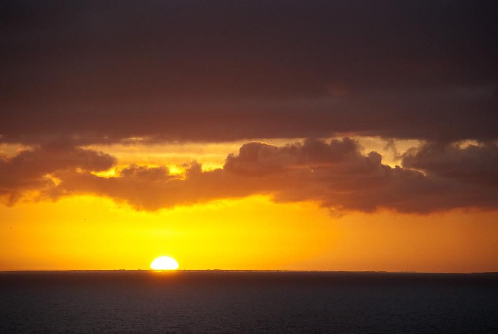 Sun still rising...