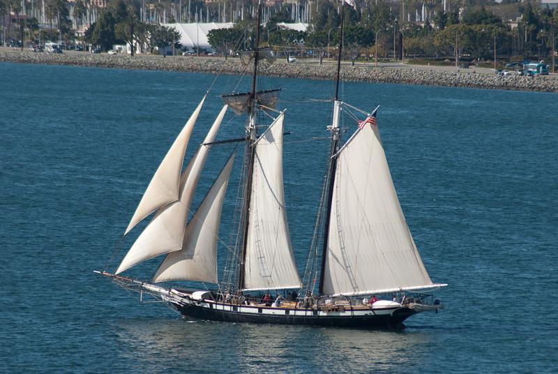 Schooner in San Diego while we were leaving.
