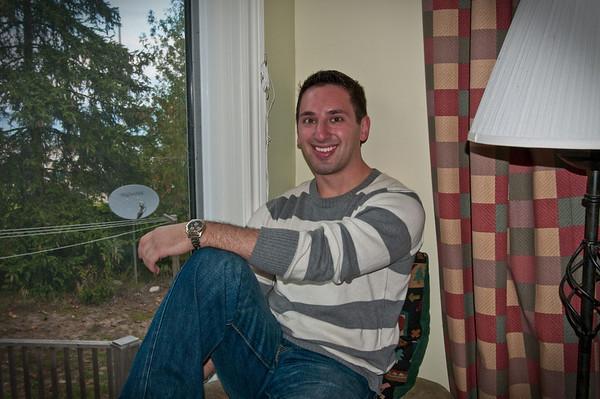 Aaron in his little nook