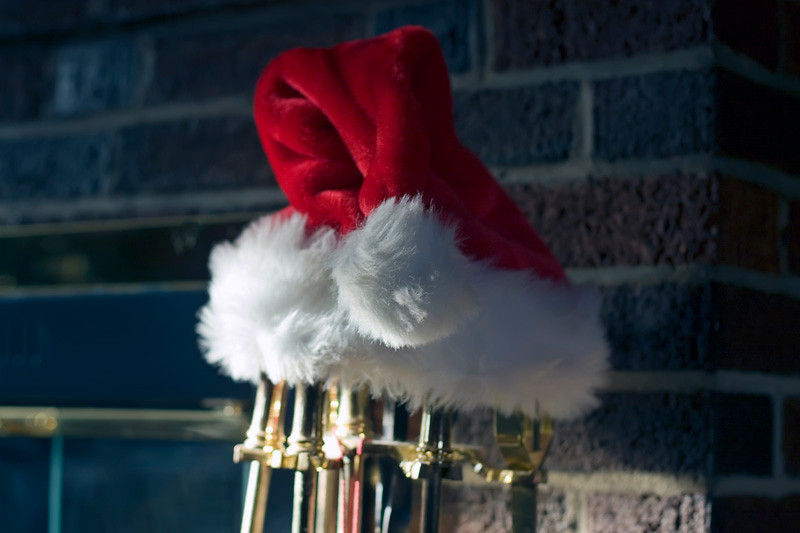 Santa's Hat at Michael's house