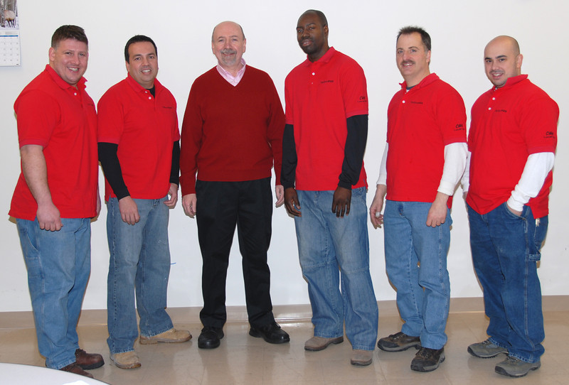 From left to right, Cris Germershausen, Brian Clancy, Business Agent Patrick Gibbons, JehanBryant, Frank Marchese and Mathew Quezada
