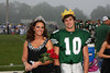 Monrovia homecoming queen Kaci Durnbaugh and king Austin Parks pose with there crowns before the Game on Friday night at Monrovia. Photo by: Patti Thieszen