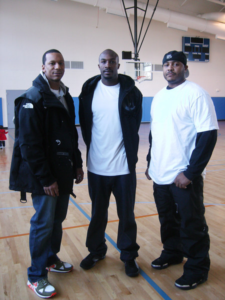 Gregory & his DeMatha friends, Sid & Dre