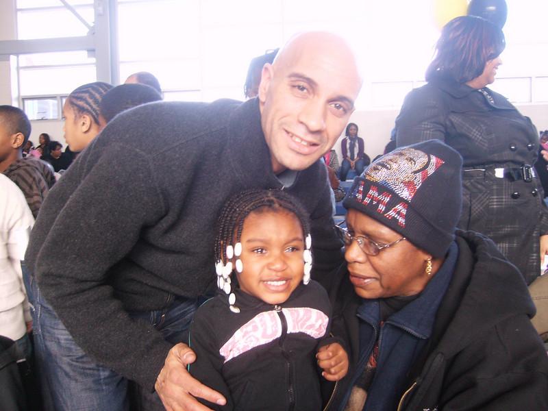 Tenia, Grandma, & Mayor Adrian Fenty