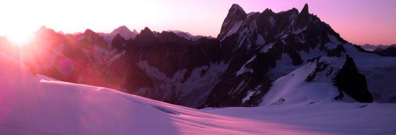 Col du Midi sunrise landscape