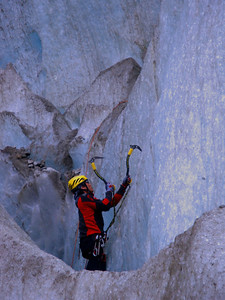 These were ideal for practicing ice climbing.